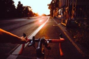 Bike Radl Sonnenuntergang